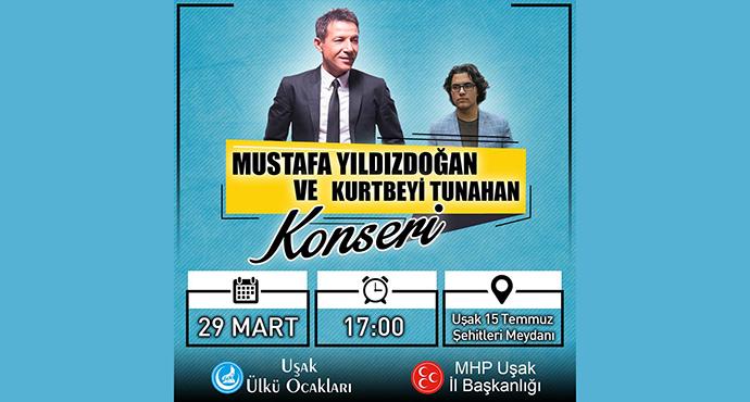 29 Mart ta Uşak'ta Mustafa Yıldızdoğan Konseri Var