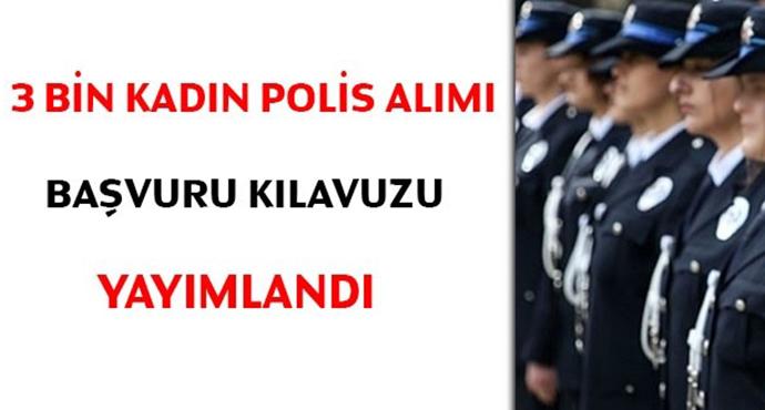 3 Bin Kadın Polis Alınacak