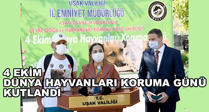 4 Ekim Dünya Hayvanları Koruma Günü Kutlandı