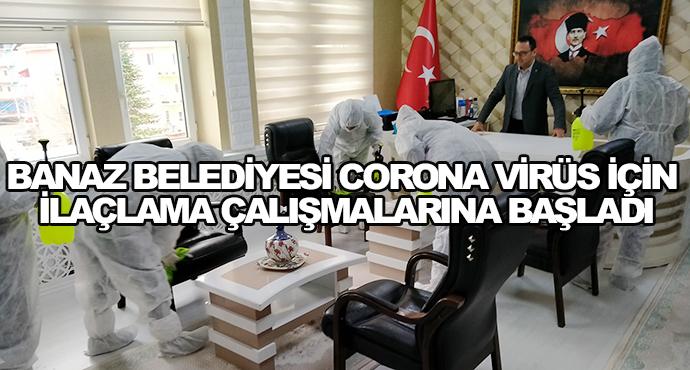 Banaz Belediyesi Corona Virüs İçin İlaçlama Çalışmalarına Başladı