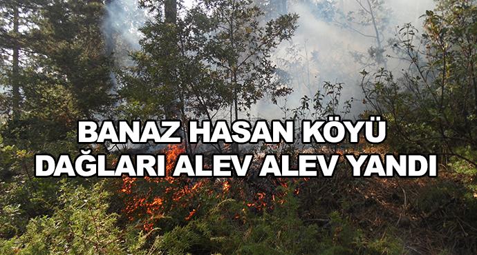 Banaz Hasan Köyü Dağları Alev Alev Yandı