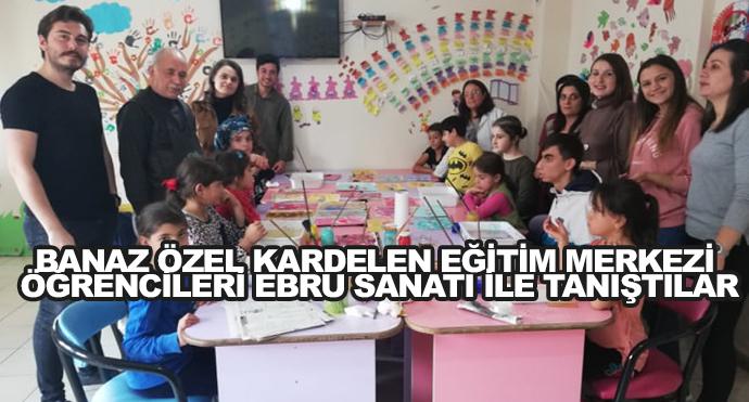 Banaz Özel Kardelen Eğitim Merkezi Öğrencileri Ebru Sanatı İle Tanıştılar