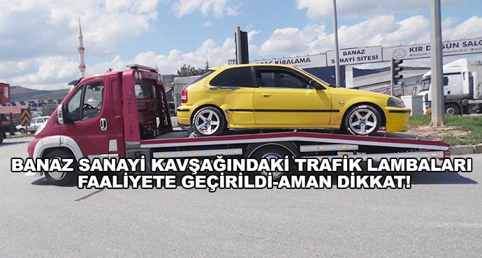Banaz Sanayi Kavşağındaki Trafik Lambaları Faaliyete Geçirildi-Aman Dikkat!