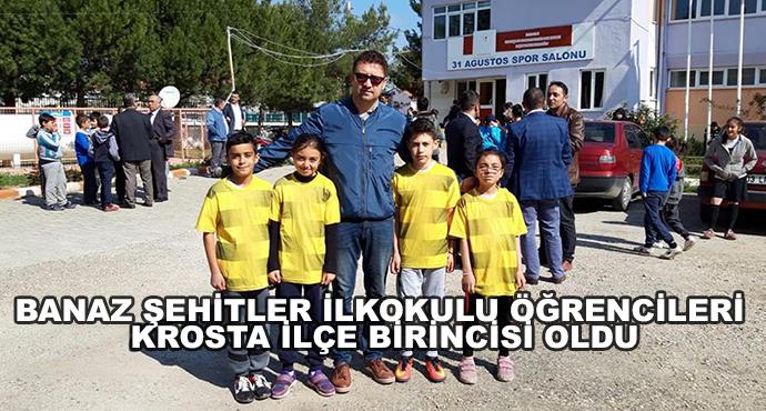 Banaz Şehitler İlkokulu Öğrencileri Krosta İlçe Birincisi Oldu