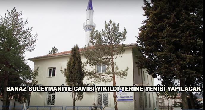 Banaz Süleymaniye Camisi Yıkıldı Yerine Yenisi Yapılacak
