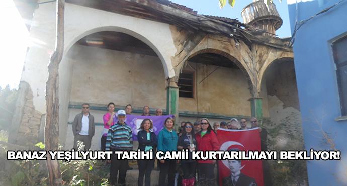 Banaz Yeşilyurt Tarihi Camii Kurtarılmayı Bekliyor!