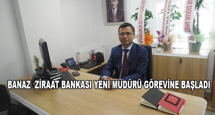 Banaz  Ziraat Bankası Yeni Müdürü Görevine Başladı
