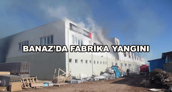 Banaz'da Fabrika Yandı