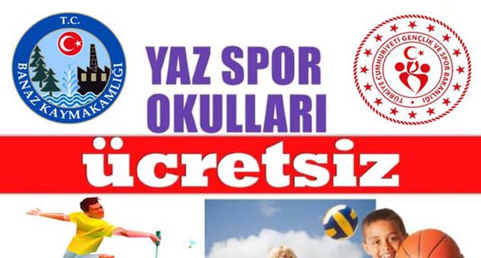 Banaz'da Ücretsiz  Yaz Spor Okulları Başladı
