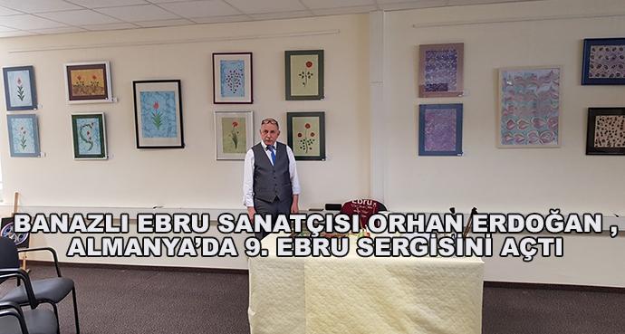 Banazlı Ebru Sanatçısı Orhan Erdoğan ,Almanya'da 9. Ebru Sergisini Açtı