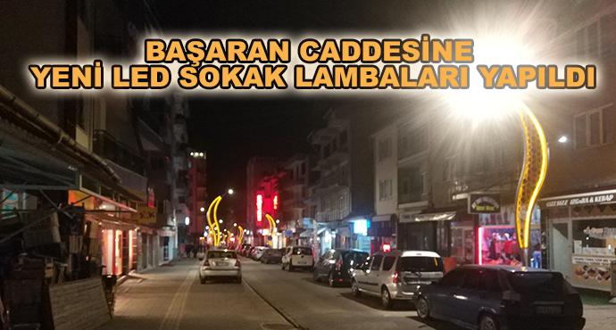 Başaran Caddesine Yeni Led Sokak Lambaları Yapıldı