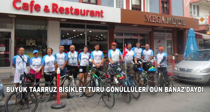Büyük Taarruz Bisiklet Turu Gönüllüleri Dün Banaz'daydı