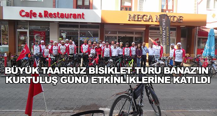 Büyük Taarruz Bisiklet Turu Banaz'ın Kurtuluş Günü Etkinliklerine Katıldı