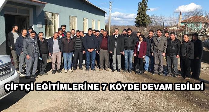 Çiftçi Eğitimlerine 7 Köyde Devam Edildi