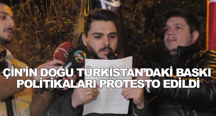 Çin'in Doğu Türkistan'daki Baskı Politikaları Protesto Edildi