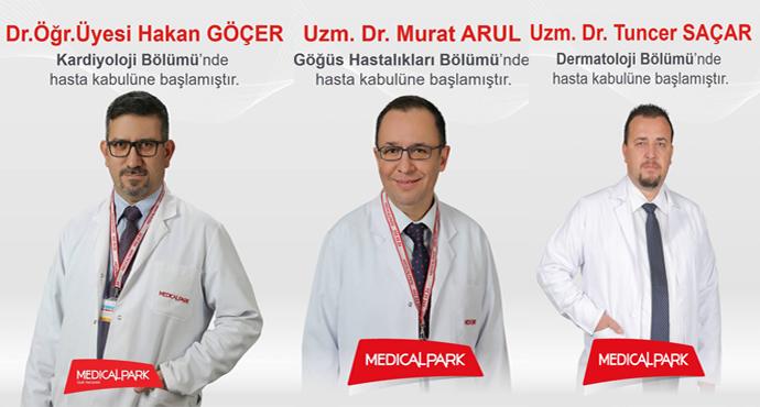 Dr.Öğr.Üyesi Hakan GÖÇER, Uzm. Dr.Murat ARUL, Uzm. Dr. Tuncer SAÇAR Uşak Medical Park Hastanesinde hasta kabulüne başladılar..