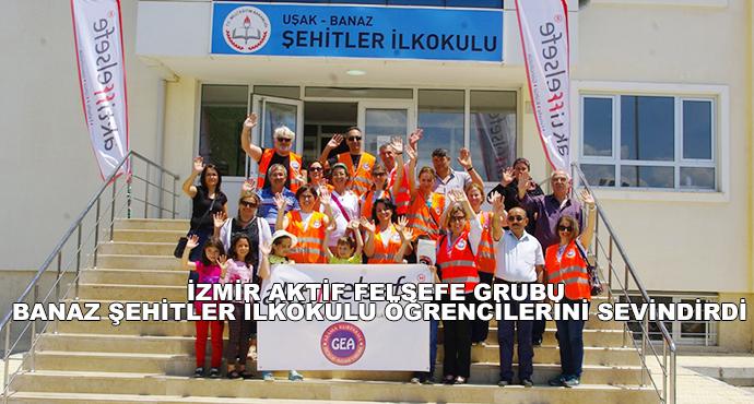 İzmir Aktif Felsefe Grubu Banaz Şehitler İlkokulu Öğrencilerini Sevindirdi