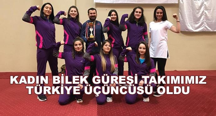 Kadın Bilek Güreşi Takımımız Türkiye Üçüncüsü Oldu