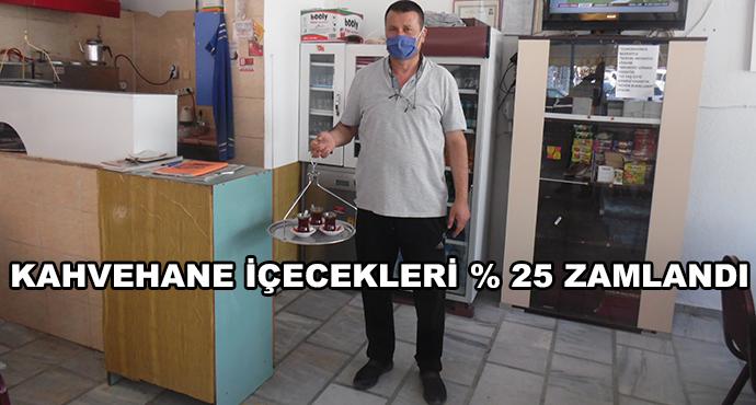Kahvehane İçecekleri Yüzde 25 Zamlandı