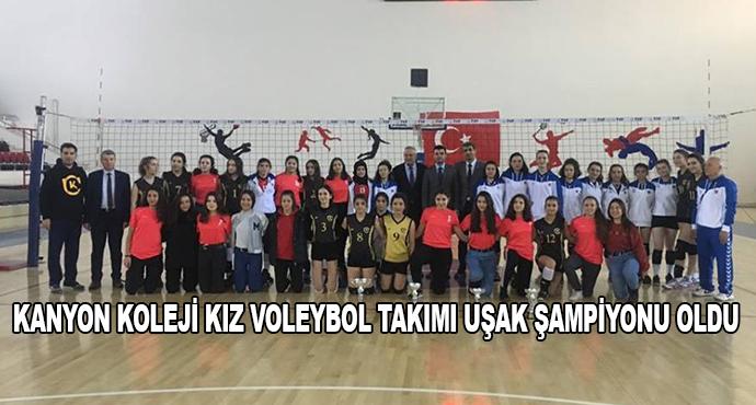 Kanyon Koleji Kız Voleybol Takımı Uşak Şampiyonu Oldu