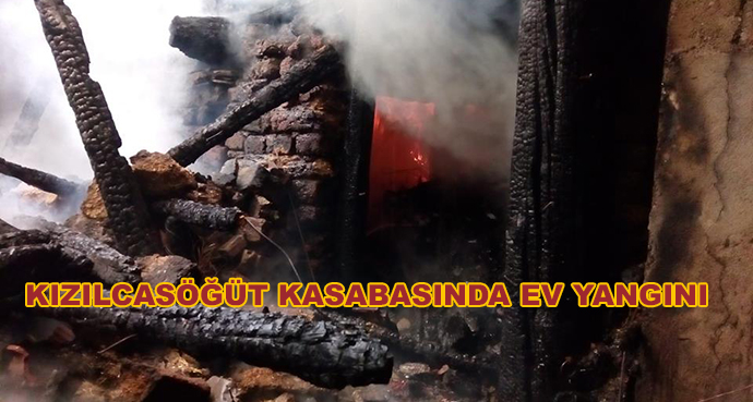 Kızılcasöğüt Kasabasında Ev Yangını
