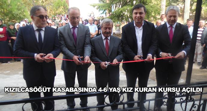 Kızılcasöğüt Kasabasında 4-6 Yaş Kız Kuran Kursu Açıldı