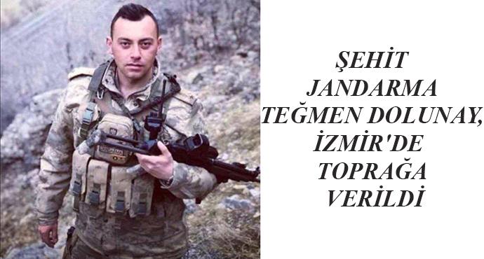 Şehit Jandarma Teğmen Dolunay, İzmir'de  Toprağa Verildi