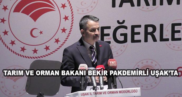 Tarım Ve Orman Bakanı Bekir Pakdemirli Uşak'ta