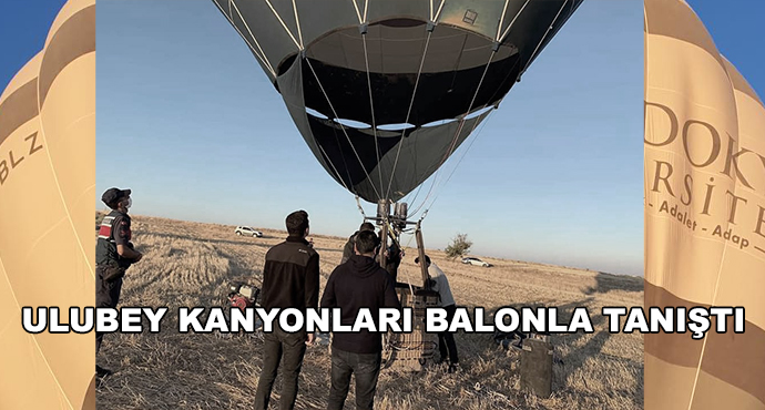 Ulubey Kanyonları Balonla Tanıştı