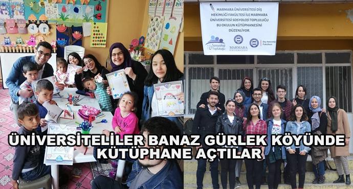 Üniversiteliler Banaz Gürlek Köyünde Kütüphane Açtılar