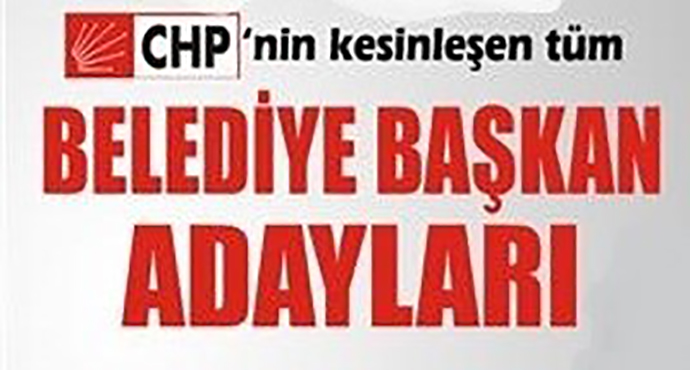 Uşak CHP'de İl, İlçe ve Belde Belediye Başkan adayları belli oldu.