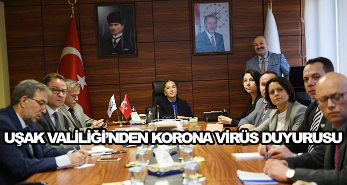 Uşak Valiliği'nden Korona Virüs Duyurusu