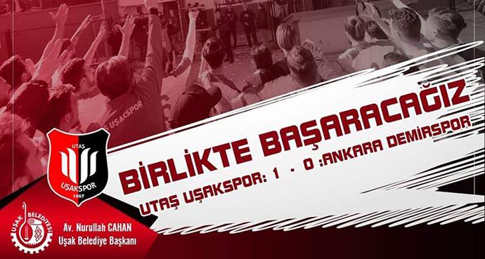 Uşakspor  1-Ankara Demirspor 0