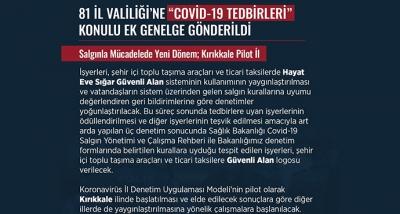 """81 İl Valiliği'ne """"Covid-19 Tedbirleri"""" Konulu Ek Genelge Gönderildi"""