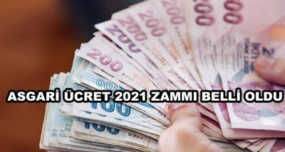 Asgari Ücret 2021 Zammı Belli Oldu