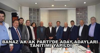 Banaz Ak Ak Parti'de Aday Adayları Tanıtımı Yapıldı