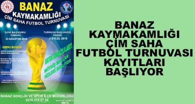 Banaz Kaymakamlı Çim Saha Futbol Turnuvası Kayıtları Başlıyor
