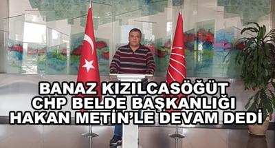 Banaz Kızılcasöğüt Chp Belde Başkanlığı Hakan Metin'le Devam Dedi