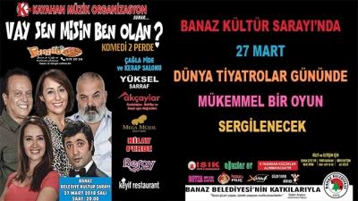Banaz Kültür Sarayı'nda 27 Mart Dünya Tiyatrolar Gününde Mükemmel Bir Oyun Sergilenecek