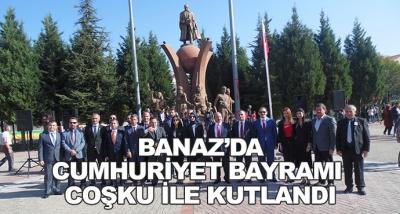 Banaz'da Cumhuriyet Bayramı Coşku İle Kutlandı