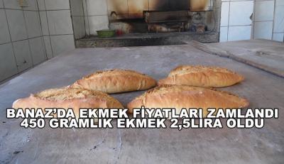 Banaz'da Ekmek Fiyatları Zamlandı 450 Gramlık Ekmek 2,5lira Oldu