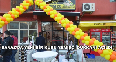 Banaz'da Yeni Bir Kuru Yemişçi Dükkanı Açıldı