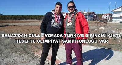Banaz'dan Gülle Atmada Türkiye Birincisi Çıktı, Hedefte Olimpiyat Şampiyonluğu Var