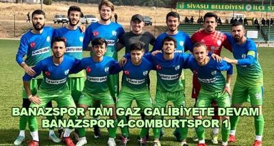 Banazspor Tam Gaz Galibiyete Devam-Banazspor 4-Comburtspor 1