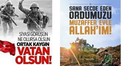 Barış Pınarı Harekatına Katılan Ordumuza Allah Muzaffer Eylesin