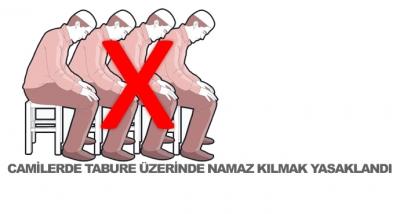 Camilerde Tabure Üzerinde Namaz Kılmak Yasaklandı