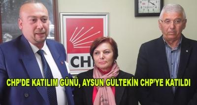 Chp'de Katılım Günü, Aysun Gültekin Chp'ye Katıldı