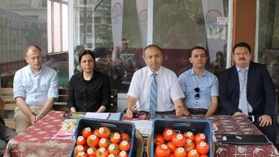 Hatipler Köyü'nde domateste Entegre Ve Kontrollü Ürün Yönetimi Projesi Sertifika Töreni Yapıldı