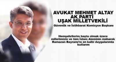 Hemşehrilerim Başta Olmak Üzere Milletimizin Ve Tüm İslam Aleminin Mübarek Ramazan Bayramı'nı En Kalbi Duygularımla Kutlarım