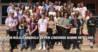 Kanyon Koleji Anadolu ve Fen Lisesinde Karne Heyecanı